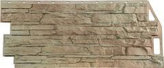 Фасадные панели (Цокольный Сайдинг) FineBer (Файнбир) Скала Песочный