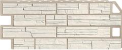 Фасадные панели (Цокольный Сайдинг) FineBer (Файнбир) Сланец Мелованный белый