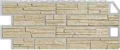 Фасадные панели (Цокольный Сайдинг) FineBer (Файнбир) Сланец Песочный