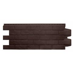 Фасадные панели (Цокольный Сайдинг) Grand Line Кирпич Состаренный Коричневый