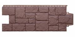 Фасадные панели (Цокольный Сайдинг) Grand Line Крупный Камень Коричневый