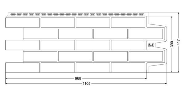 Фасадные панели (Цокольный Сайдинг) Grand Line Кирпич Клинкерный Бежевый