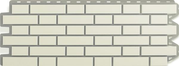 Фасадная Панель кирпич клинкерный (белый)