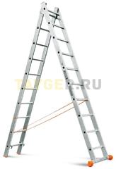 Лестница двухсекционная Эйфель Классик 2х10 ступеней
