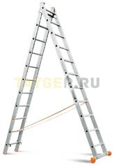 Лестница двухсекционная Эйфель Классик 2х11 ступеней