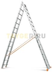 Лестница двухсекционная Эйфель Классик 2х14 ступеней