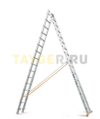 Лестница двухсекционная Эйфель Классик 2х16 ступеней