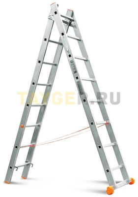 Лестница двухсекционная Эйфель Классик 2х8 ступеней