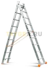 Лестница двухсекционная Эйфель Классик 2х9 ступеней
