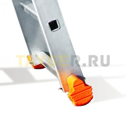 Лестница двухсекционная Эйфель Классик 2х6 ступеней поперечина и ступеньки