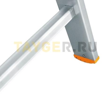 Лестница двухсекционная Эйфель Классик 2х10 ступеней заглушки опоры и ступеньки