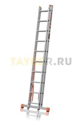 Лестница двухсекционная Эйфель ПРЕМЬЕР 2x10 ступеней в сложенном состоянии
