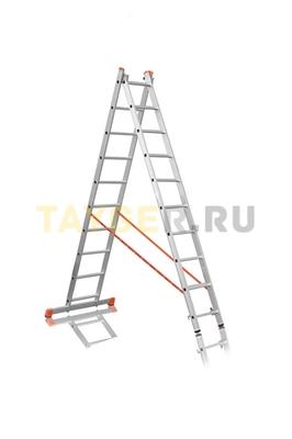 Лестница двухсекционная Эйфель ПРЕМЬЕР 2x10 ступеней