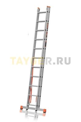 Лестница двухсекционная Эйфель ПРЕМЬЕР 2x11 ступеней в сложенном состоянии