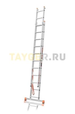 Лестница двухсекционная Эйфель ПРЕМЬЕР 2x11 ступеней в разложенном состоянии