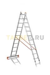 Лестница двухсекционная Эйфель ПРЕМЬЕР 2x11 ступеней