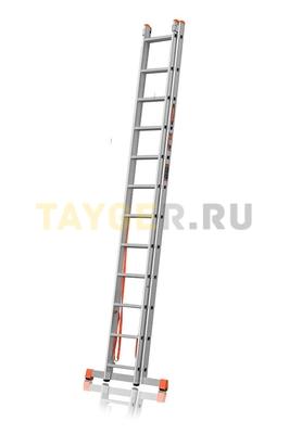 Лестница двухсекционная Эйфель ПРЕМЬЕР 2x12 ступеней в сложенном состоянии