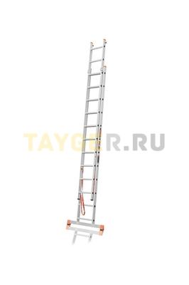 Лестница двухсекционная Эйфель ПРЕМЬЕР 2x12 ступеней в разложенном состоянии