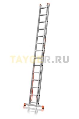Лестница двухсекционная Эйфель ПРЕМЬЕР 2x14 ступеней в сложенном состоянии
