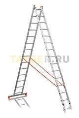 Лестница двухсекционная Эйфель ПРЕМЬЕР 2x14 ступеней