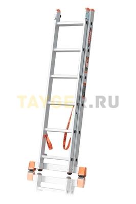 Лестница двухсекционная Эйфель ПРЕМЬЕР 2x6 ступеней в сложенном состоянии