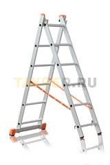 Лестница двухсекционная Эйфель ПРЕМЬЕР 2x6 ступеней