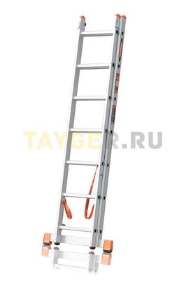 Лестница двухсекционная Эйфель ПРЕМЬЕР 2x7 ступеней в сложенном состоянии