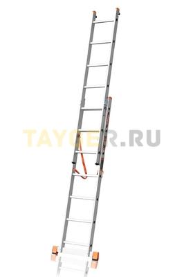 Лестница двухсекционная Эйфель ПРЕМЬЕР 2x7 ступеней в разложенном состоянии