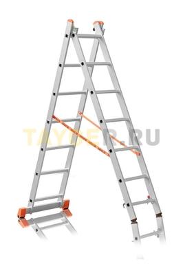 Лестница двухсекционная Эйфель ПРЕМЬЕР 2x7 ступеней