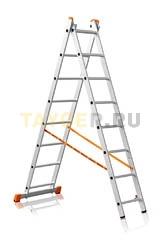 Лестница двухсекционная Эйфель ПРЕМЬЕР 2x8 ступеней