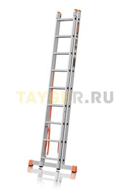 Лестница двухсекционная Эйфель ПРЕМЬЕР 2x9 ступеней в сложенном состоянии
