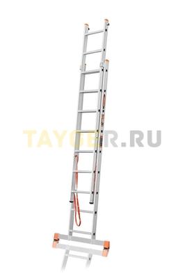 Лестница двухсекционная Эйфель ПРЕМЬЕР 2x9 ступеней в разложенном состоянии