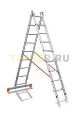 Лестница двухсекционная Эйфель ПРЕМЬЕР 2x9 ступеней