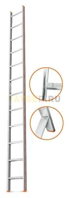 Лестница приставная 12 ступеней Эйфель КОМФОРТ-ПРОФИ односекционная