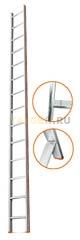 Лестница приставная 14 ступеней Эйфель КОМФОРТ-ПРОФИ односекционная