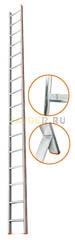Лестница приставная 16 ступеней Эйфель КОМФОРТ-ПРОФИ односекционная