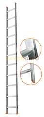 Лестница приставная 11 ступеней Эйфель ГРАНИТ односекционная
