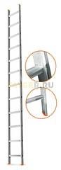 Лестница приставная 12 ступеней Эйфель ГРАНИТ односекционная