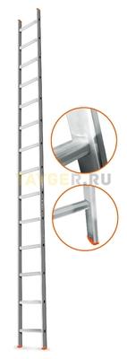Лестница приставная 14 ступеней Эйфель ГРАНИТ односекционная