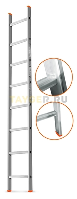 Лестница приставная 8 ступеней Эйфель ГРАНИТ односекционная