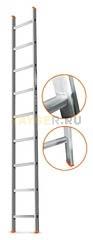 Лестница приставная 9 ступеней Эйфель ГРАНИТ односекционная