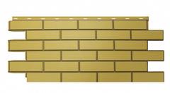 Фасадные панели (Цокольный Сайдинг) Nordside (Нордсайд) Гладкий Кирпич Желтый