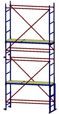 Помост малярный РИЗ, H-3,6 м., настил 0,5х1,6 м.