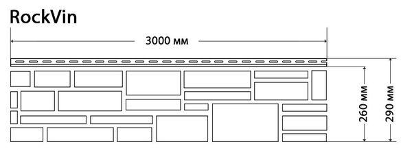 Фасадные панели (Цокольный Сайдинг) Доломит Rockvin Корица