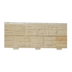 Фасадные панели (Цокольный Сайдинг) Доломит Скалистый Риф Премиум Дюна