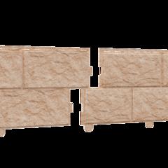 Фасадные панели (Цокольный Сайдинг) Ю-Пласт Стоун Хаус Камень Золотистый