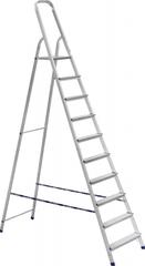 Стремянка алюминиевая АЛЮМЕТ АМ710 10 ступеней (Ам710)