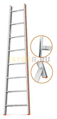 Лестница приставная 8 ступеней Эйфель Комфорт Профи Пирамида