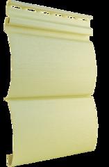 Сайдинг Виниловый Tecos Ardennes Оцилиндрованный брус Двойной Светло-желтый