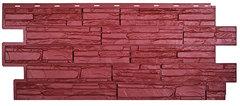 Фасадные панели (Цокольный Сайдинг) Т-Сайдинг (Техоснастка) Альпийская Сказка Бордо (одноцветный)